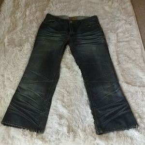 Mens Stampa whiskered jeans
